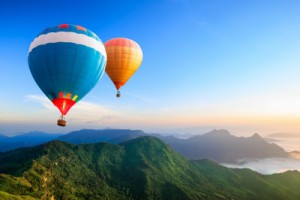 Best Residual Income Business - Photography - Hot Air Balloons Over Misty Mountain