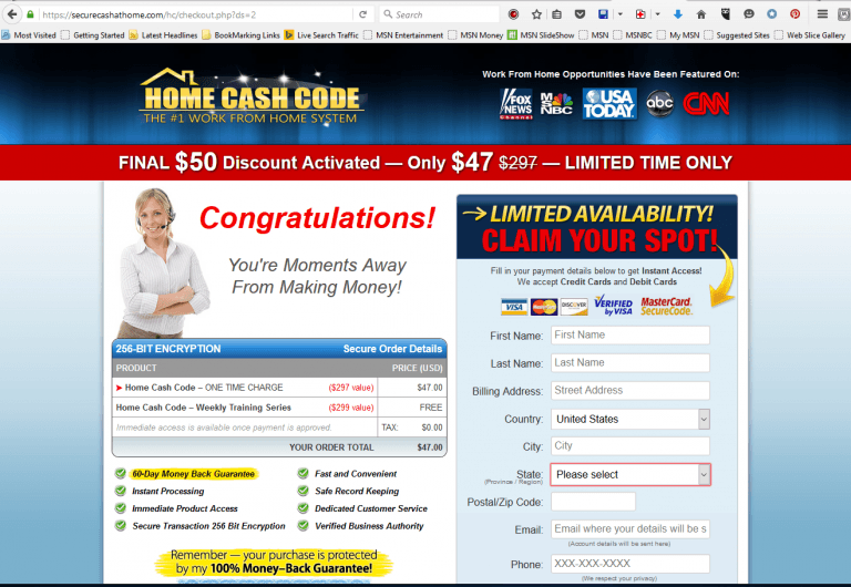 Home Cash Code - Secure Cash At Home Offer Now Only $47