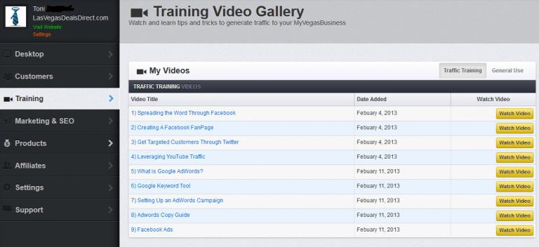 MVB Dashboard - Training Videos