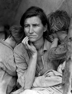 Woman and children during the Great Depression