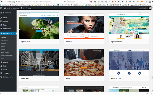 Screenshot 203 WordPress Themes