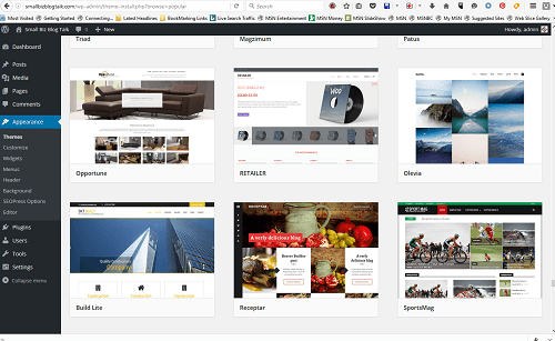 Screenshot 204 WordPress Themes