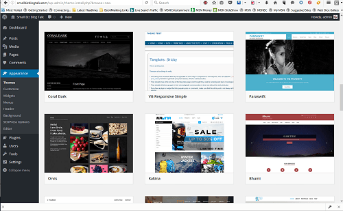 Screenshot 207 WordPress Themes