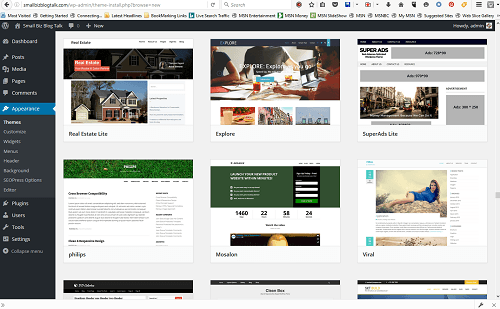 Screenshot 208 WordPress Themes