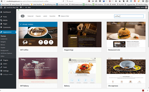 Screenshot 210 WordPress Themes