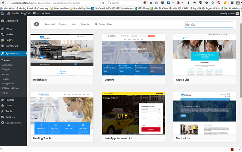 Screenshot 212 WordPress Themes